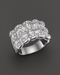 Bloomingdale's Baguette Diamond Statement Ring In 14K White Gold 1.75 Ct. T.W.