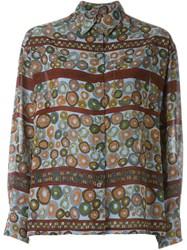 Jean Paul Gaultier Vintage 'Circle' Printed Shirt Multicolour