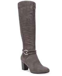 Karen Scott Gaffar Dress Boots Only At Macy's Women's Shoes Grey