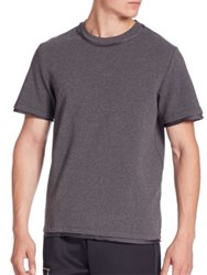 Ovadia And Sons Satin Trimmed Crewneck Tee Grey