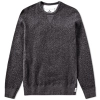 Reigning Champ Tiger Fleece Crew Sweat Black