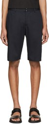 Maison Martin Margiela Navy Cotton And Linen Shorts