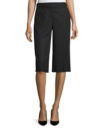 Escada Wide Leg Knee Length Pants Black