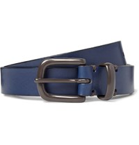 Oliver Spencer 2.5C Blue Coniston Leather Belt Navy