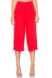 J.O.A. High Waisted Trouser Red