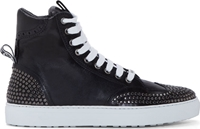 Dsquared Black Studded High Top Sneakers
