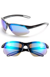 Women's Smith Optics 'Parallel D Max' 65Mm Polarized Sunglasses Black White Blue Clear