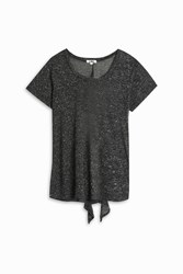 Lna Tie Back T Shirt Black