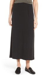 Eileen Fisher Women's Full Length Silk Georgette Crepe Skirt