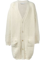 J.W.Anderson Chunky Oversized Cardigan Nude And Neutrals