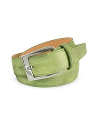 Pakerson Men's Pistachio Green Hand Painted Italian Leather Belt