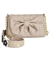 Betsey Johnson Floral Shoulder Bag Stone