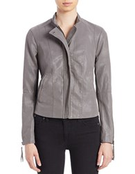 Free People Faux Leather Moto Jacket Grey