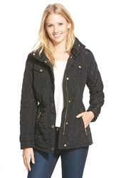 Petite Women's Michael Michael Kors Quilted Field Jacket Black