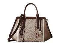 Brahmin Arden Satchel Stone Satchel Handbags White