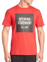 Opening Ceremony Cotton Crewneck Tee Red