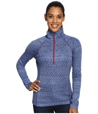 Kuhl Adriana 1 2 Zip Blue Depths Women's Long Sleeve Pullover