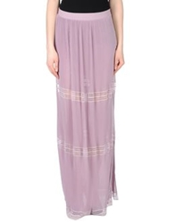 Blumarine Long Skirts Beige