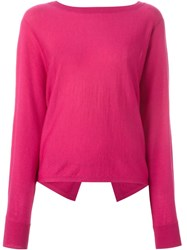 Vanessa Bruno Open Back Sweater Pink And Purple