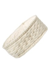 Echo Knit Headband White