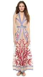 Temperley London Long Coral Dress