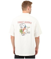 Tommy Bahama Dealer's Choice Camp Shirt Continental Men's Clothing White