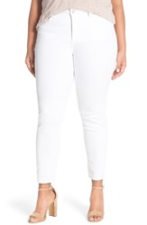 Plus Size Women's Nydj 'Clarissa' Stretch Slim Ankle Jeans Optic White