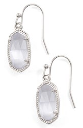 Kendra Scott Women's 'Lee' Small Drop Earrings Slate Cats Eye Silver Slate Cats Eye Silver