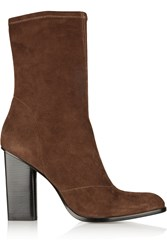 Alexander Wang Gia Stretch Suede Boots Brown