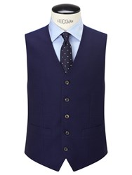 Chester Barrie By Hopsack Wool Tailored Waistcoat Navy