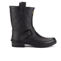 Barbour International Women's Matte Biker Wellington Boots Black