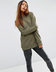 Asos Ultimate Oversized Sweat Khaki Green