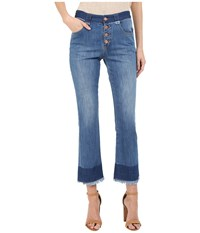 See By Chloe Stoned Denim Frayed Edge Jeans Washed Indigo Women's Jeans Navy