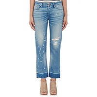 Nsf Women's Distressed Crop Jeans Blue