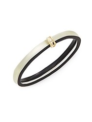 Alexis Bittar Lucite Tapered Bangle Bracelet Ivory