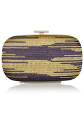 M Missoni Crochet Knit Clutch Yellow
