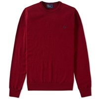 Fred Perry Classic Crew Neck Sweater Red