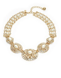 Kate Spade Fine Day Faux Pearl And Crystal Statement Neckalce Cream