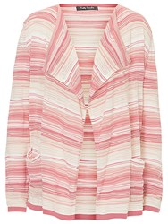 Betty Barclay Candy Stripe Cardigan Pink Beige