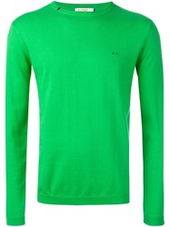 Sun 68 Crew Neck Jumper Green