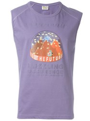 Walter Van Beirendonck Vintage Puzzling Occurence Sleeveless Top Pink And Purple