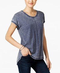 Styleandco. Style Co. Seam Detail High Low T Shirt Only At Macy's Ink