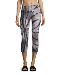 The Balance Collection Tie Dye Capri Leggings Black