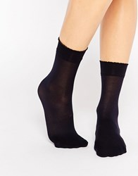 Gipsy Luxury Ankle High Two Pack Socks Navy Blue