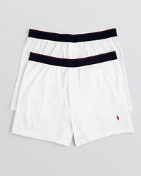Ralph Lauren Supreme Comfort Knit Boxers Pack Of 2 White
