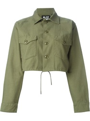 Nlst Cropped Military Jacket Green