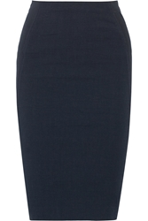Donna Karan Stretch Linen Blend Pencil Skirt