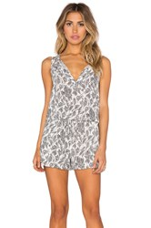 Lucca Couture Sketch Woven Tank Drawstring Romper White