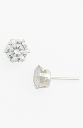 Tomas Cubic Zirconia And Sterling Silver Stud Earrings Juniors