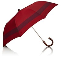 Barneys New York Men's Striped Folding Umbrella Navy Red Navy Red